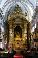 Interior of the Church of the Holy Trinity. The Church of the Trinity is a church in the city of Oporto in Portugal, located in the square of the Trinity behind the building of the Oporto City Hall.