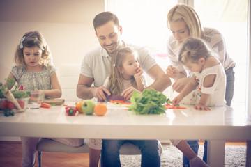 Healthy family.