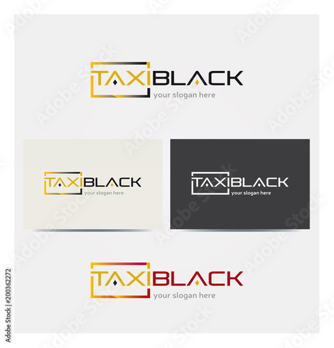 Logo Taxi Van Multicolore Icone Carte De Visite Et Charte Graphique Entreprise