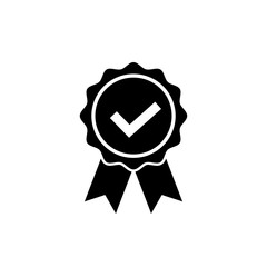 Approved or certified medal icon. Award symbol