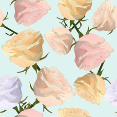 Vector seamless pattern with watercolor rose flowers. Modern stylish floral flower pattern for textile, wallpaper, pattern fills, covers, surface, print, gift wrap scrapbooking decoupage.