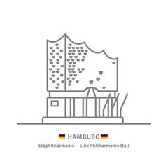 Elphie, die Elbphilharmonie, Konzerthalle in Hamburg, Deutschland