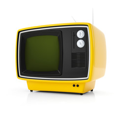 orange retro tv