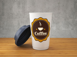 Coffee logo on the cup