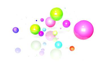 球体 イメージ カラフル 白