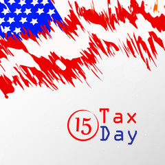 Illustration of background for USA Tax day