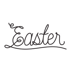 easter word calligraphy icon