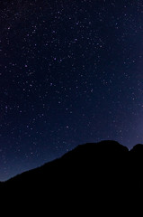 Mountains under the stars