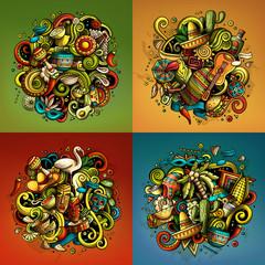Latin America cartoon vector doodle illustration