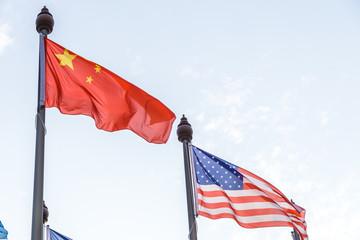 flag of china and usa