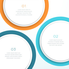 Abstract Vector Colorful Circle 3d Diagram Background