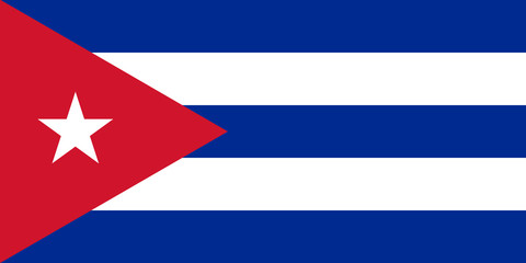 Cuba flag standard proportion color mode RGB