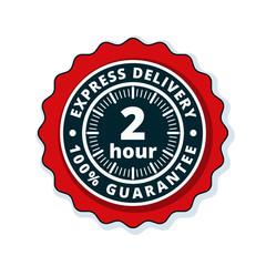 2 Hour Express Delivery illustration
