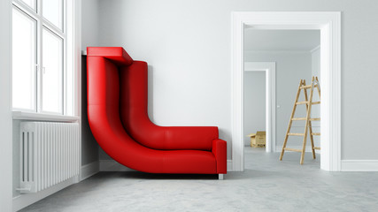 Platz sparen mit Sofa im kleinen Raum