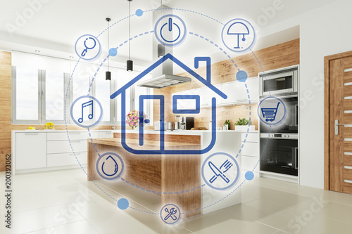 Smart Home Küche mit Interface\
