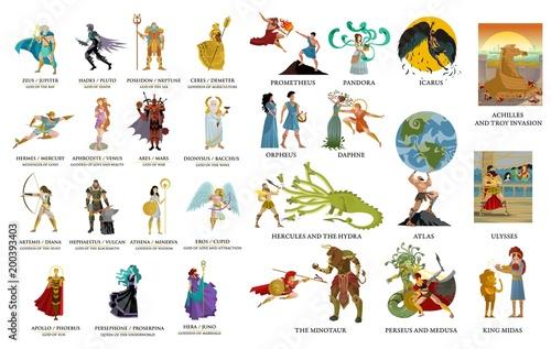 greek gods and mythology collection fotolia com の ストック画像と