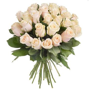 Bouquet of cream roses