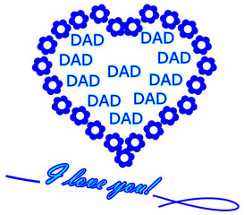 Dad I love you - illustration