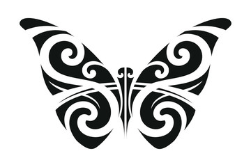 Butterfly ornament in the style of Polynesia