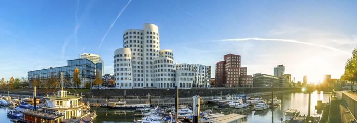 Düsseldorf, Medienhafen, Panorama