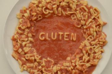 Gluten Intolerance Pasta Food Typography