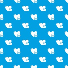 Dislike pattern vector seamless blue