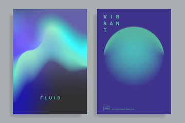 design templates with vibrant gradient shapes