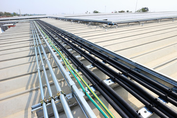 Cable Installation for Solar Rooftop System