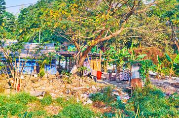 The slums in greenery, Yangon, Myanmar