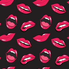 lip pattern. lips and mouth vector illustration