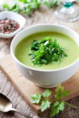 Bowl Of Homemade Broccoli Soup