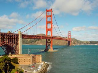 A beautiful view of the Golden Gate Bridge