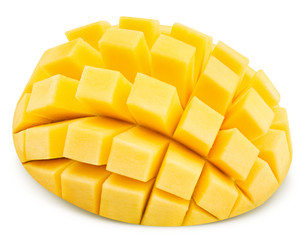 Ripe mango isolated