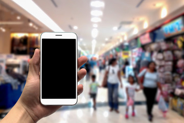 blurred photo, Blurry image, People shopping in  Department Store, background