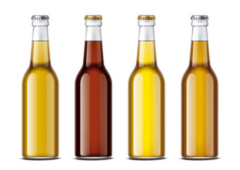 Bottles mockup for beverages