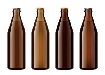 Bottles mockup for beverages