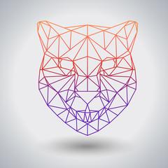 Hipster polygonal animal cheetah. Triangle animal
