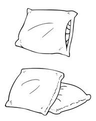 Vector pillows line art
