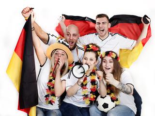 Fußballfans beim public viewing