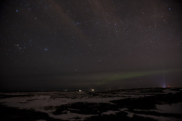 The Northern Lights in the sky at night