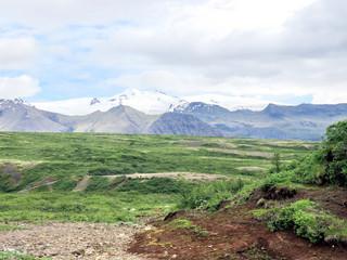 Iceland the view of Hvannadalshnukur mountains 2017