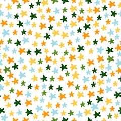 Vector Illustration. Stars cartoon pattern. Backgroun