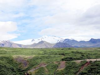 Iceland view of Hvannadalshnukur mountains 2017