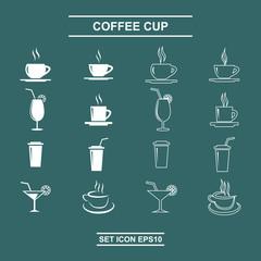 Set coffee cup vector