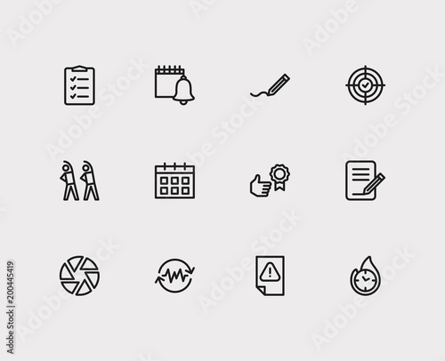 multitasking icons set to do list and multitasking icons with