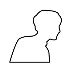 outline profile pic on white background