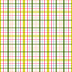 Plaid background in spring colors