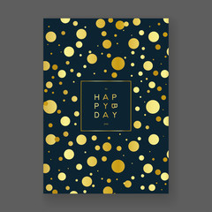 Golden Foil Birthday Card