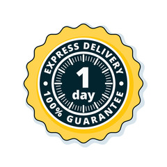 One Day Express Delivery illustration