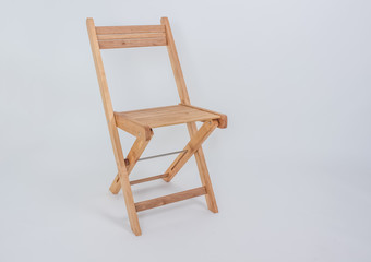 folding wooden chair isolated